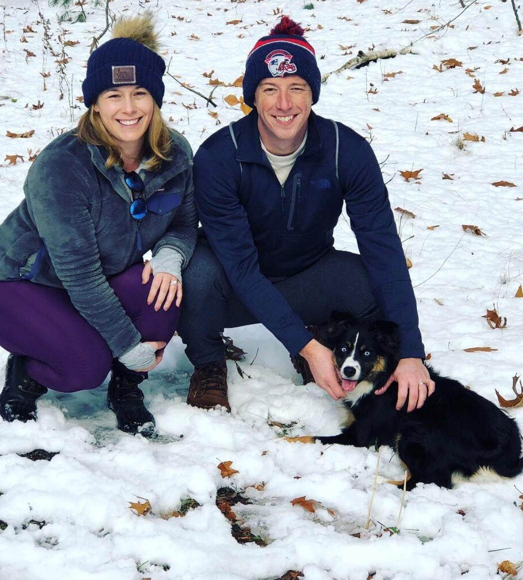 Sam with his wife and dog